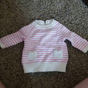 Newborn baby girl sweater dress